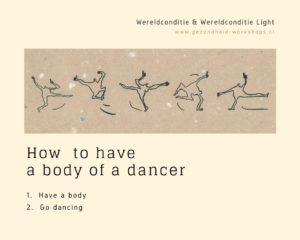 dansen met 'een maatje meer', XXL, overgewicht en dansen, zacht bewegen, gezondheid-workshops.nl, wereldconditie 'Light', Jeanine Theunissen, Afrikaanse dans, Chi Kung, salsa, acupressuur, zelfmassage