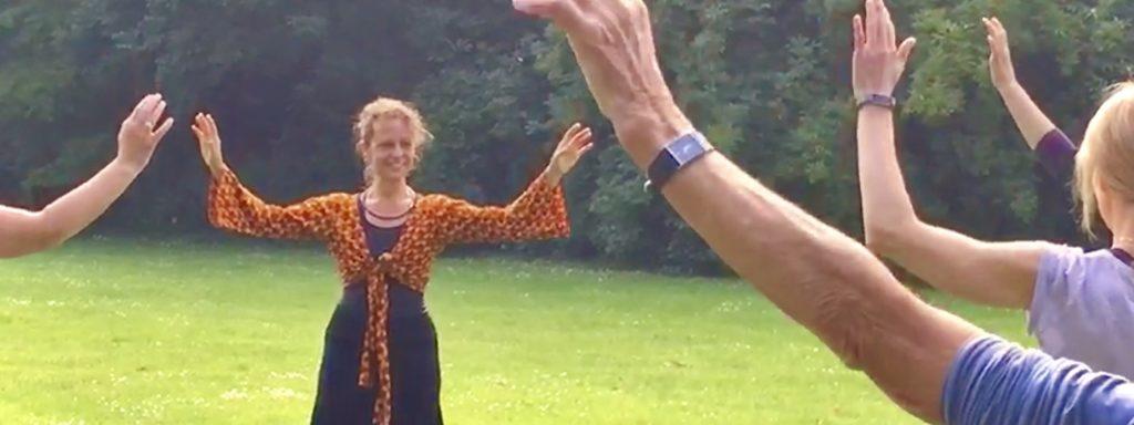 Wereldconditie, Jeanine Theunissen, Chi Kung, QiGong, Afrikaanse dans, salsa, 65+ dans, Energy Medicine, Zelfmassage, Dansfitness