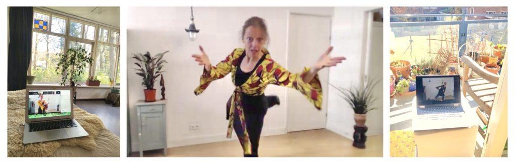 Wereldconditie Online, Online lessen dans, online les Chi Kung, vermoeidheid, stress, ontspannen, corona stress, thuis online dansen, gezondheid workshops, thuiswerken corona