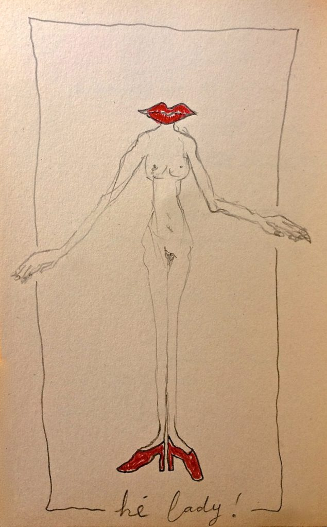 Hé Lady! -tekening, Jeanine Theunissen, vermoeidheid, moodswings, somberheid